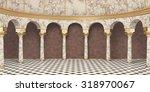 Classic Columns Interior. 3d...