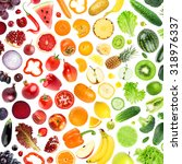 collection of fruits and... | Shutterstock . vector #318976337