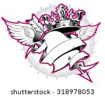 king of hearts. design element.  | Shutterstock .eps vector #318978053
