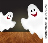 halloween background with... | Shutterstock .eps vector #318978293