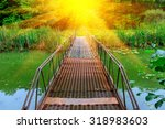 Small Bridge Over River With...