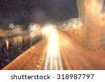 blurred background night city...   Shutterstock . vector #318987797