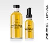 realistic essential oil bottle. ... | Shutterstock .eps vector #318989033