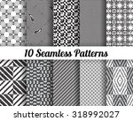 set of 10 abstract patterns.... | Shutterstock .eps vector #318992027