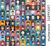 collection of avatars24   81... | Shutterstock .eps vector #318992057