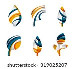 set of abstract eco leaf icons  ... | Shutterstock .eps vector #319025207