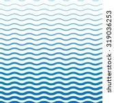 blue wavy pattern | Shutterstock .eps vector #319036253