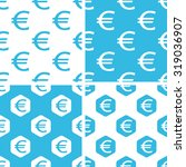 euro patterns set  simple and...