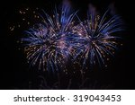 Beautiful Blue Fireworks On Th...