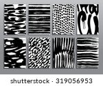 abstract grunge patterns. dry... | Shutterstock .eps vector #319056953