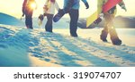 people snowboard winter sport... | Shutterstock . vector #319074707