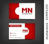 business card vector template. | Shutterstock .eps vector #319091153