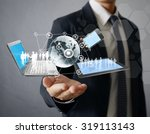 technology in the hands of...   Shutterstock . vector #319113143