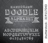 vector illustration of chalk... | Shutterstock .eps vector #319117043