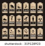 vector set of halloween labels... | Shutterstock .eps vector #319128923