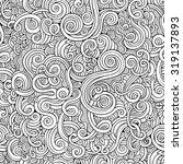 decorative hand drawn doodle... | Shutterstock .eps vector #319137893