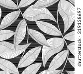 black and white striped texture ... | Shutterstock .eps vector #319138697