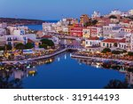 agios nikolaos city and... | Shutterstock . vector #319144193