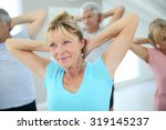 Senior People Stretching Out I...