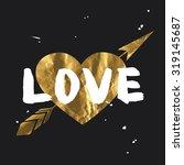 love   lettering design....   Shutterstock .eps vector #319145687