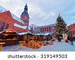 beautiful snowy winter scenery... | Shutterstock . vector #319149503