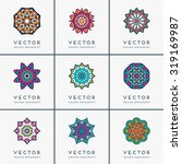 mandalas. vintage decorative... | Shutterstock .eps vector #319169987