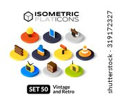 isometric flat icons  3d... | Shutterstock .eps vector #319172327