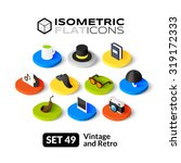 isometric flat icons  3d... | Shutterstock .eps vector #319172333