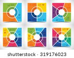 collection of six square shaped ... | Shutterstock .eps vector #319176023