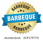 barbeque 3d gold badge with... | Shutterstock .eps vector #319179773