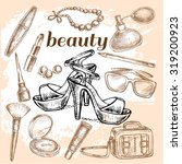 """hand drawn set of beauty"" for... 