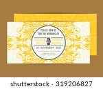 wedding vintage invitation card ... | Shutterstock .eps vector #319206827