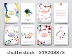 set of brochure  poster... | Shutterstock .eps vector #319208873
