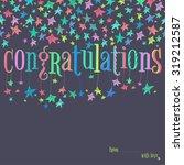 vector stars confeti garland... | Shutterstock .eps vector #319212587