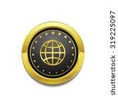 globe sign golden vector icon... | Shutterstock .eps vector #319225097
