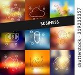business timeline presentations ... | Shutterstock .eps vector #319235357