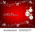 red christmas background with... | Shutterstock .eps vector #319252277