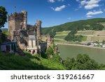 Castle At Rhine River