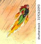 retro style comics superwoman... | Shutterstock .eps vector #319262093
