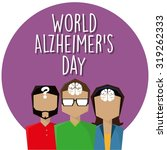 three people with alzheimer | Shutterstock .eps vector #319262333