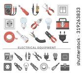 flat icons   electrical... | Shutterstock .eps vector #319263833
