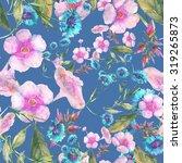 beautiful floral seamless... | Shutterstock . vector #319265873
