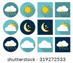 Weather Icons With Sun  Cloud ...