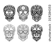 Mexican Sugar Skull Set For Th...