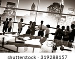 group of business people... | Shutterstock . vector #319288157