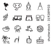 thailand icons | Shutterstock .eps vector #319289933