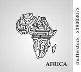 circuit board africa eps 10 ... | Shutterstock .eps vector #319303073