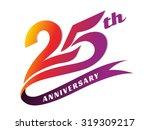 anniversary emblems 25... | Shutterstock .eps vector #319309217