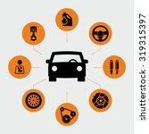 car parts icons vector   Shutterstock .eps vector #319315397