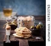 smoked salmon and soft cheese... | Shutterstock . vector #319315763